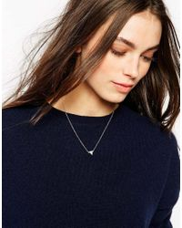 Stella & Bow | Metallic Amelia Tri Necklace | Lyst