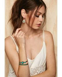 Forever 21 - Blue Emerald Duv Thunderbird Earrings - Lyst