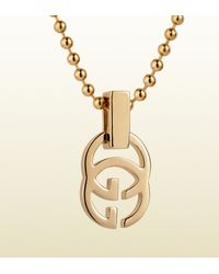 Gucci | Metallic Gold Running G Necklace | Lyst
