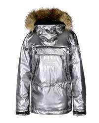 Napapijri | Metallic Fur-Trimmed Anorak  | Lyst