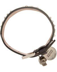 Alexander McQueen | Black Studded Bracelet for Men | Lyst