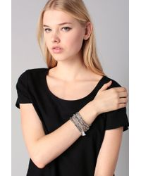 Pieces - Metallic Bracelet - Lyst