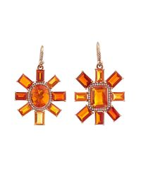 Irene Neuwirth | Metallic Diamond, Fire-Opal & Rose-Gold Earrings | Lyst
