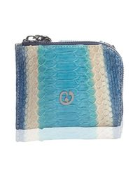 Nada Sawaya - Medium Zip Around Python Wallet - Blue Combo - Lyst
