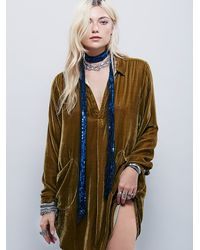 Free People - Blue Fp One Bianca Sequin Skinny Scarf - Lyst