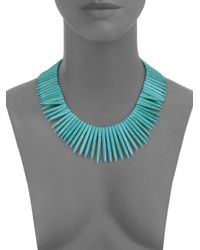 Kenneth Jay Lane - Blue Sodalite Stick Collar Necklace - Lyst