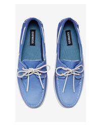 Express - Ombre Boat Shoe - Blue for Men - Lyst