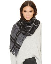 Marc By Marc Jacobs - Black Chalky Tartan Scarf - Lyst