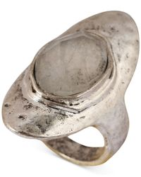 Lucky Brand - Metallic Silver-Tone Organic Stone Ring - Lyst