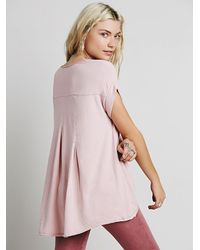Free People | Pink We The Free Womens We The Free Kristin Tee | Lyst
