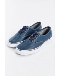 Vans - Blue Authentic Leather Sneaker for Men - Lyst