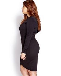 Forever 21 | Black Subtle Asymmetrical Bodycon Dress | Lyst