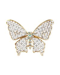 Jones New York | Metallic Goldtone Crystal Butterfly Pin | Lyst