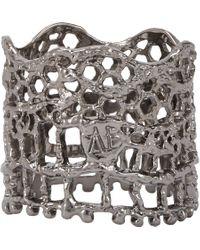 Aurelie Bidermann - Metallic Vintage Lace Ring - Lyst