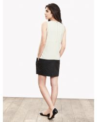 Banana Republic | White Br Monogram Faux-leather Cocoon Dress | Lyst