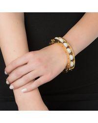 Lele Sadoughi | White Pave Round Slider Bracelet | Lyst