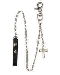 HTC Hollywood Trading Company | Metallic Cross Pendant Pocket Chain for Men | Lyst