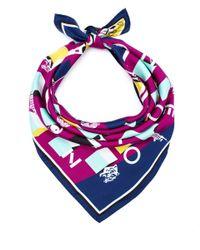 KENZO | Purple Logo Silk Scarf | Lyst