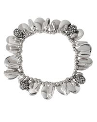 Kenneth Cole | Metallic Multi-Bead Stretch Bracelet | Lyst