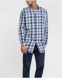 Zara   Blue Check Shirt for Men   Lyst