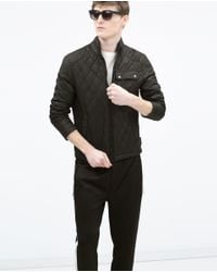 Zara | Black Padded Jacket for Men | Lyst