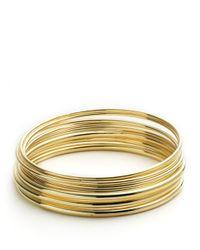 Lauren by Ralph Lauren - Metallic Bangle Bracelets Set - Lyst