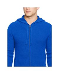 Polo Ralph Lauren - Blue Waffle-knit Cashmere Hoodie for Men - Lyst