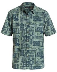Quiksilver | Green Waterman Short-sleeve Kalae Shirt for Men | Lyst