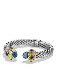 David Yurman - Metallic Renaissance Bracelet with Blue Topaz Iolite Gold - Lyst
