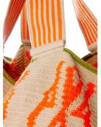 Sophie Anderson - Orange Luz Woven-Cotton Tote - Lyst
