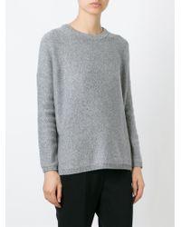 VINCE | Gray Crew Neck Sweater | Lyst