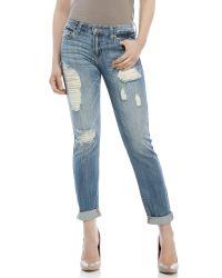 Eunina | Blue Comfort Skinny Crop Jeans | Lyst