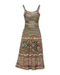 M Missoni   Green Knee-length Dress   Lyst