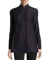 Akris Punto - Purple Embroidered Long-sleeve Tunic - Lyst