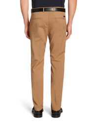 BOSS - Natural Slim-fit Chinos In Stretch Cotton: 'rice3-d' for Men - Lyst