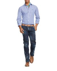 Polo Ralph Lauren | Blue Plaid Poplin Shirt for Men | Lyst