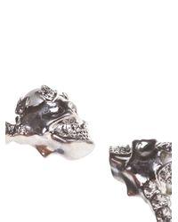 Alexander McQueen   Metallic Alexander Mcqueen Skull Torque Bracelet   Lyst