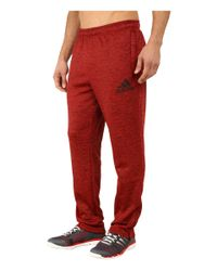 Adidas   Red Team Issue Fleece Taper Pants for Men   Lyst