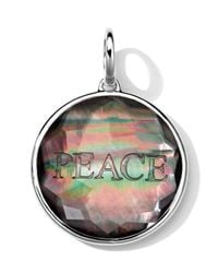 Ippolita - Metallic Sterling Silver Carved Intaglio Peace Charm - Lyst