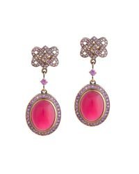 Queensbee | Purple Moons Earrings | Lyst