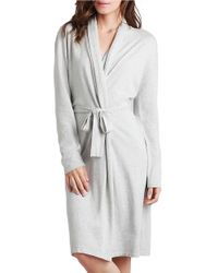 UGG | Gray Marie Cotton Robe | Lyst