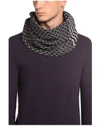 BOSS Orange - Black 'kaven' | Virgin Wool Cotton Scarf for Men - Lyst