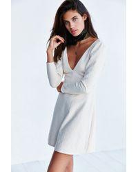 Kimchi Blue | White Ramona Textured Plunge Dress | Lyst