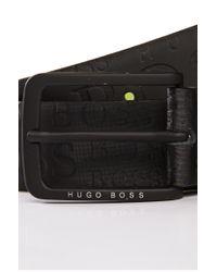 BOSS Green | Black Cowhide Belt 'togai' for Men | Lyst