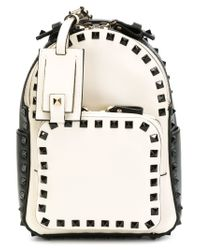 Valentino - White Small 'rockstud' Backpack - Lyst