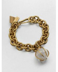 Kelly Wearstler - Metallic Clear Quartz Prong Charm Bracelet - Lyst