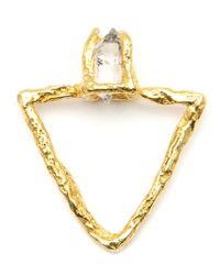 Niza Huang - Metallic 'triangular Pyramid' Ring - Lyst