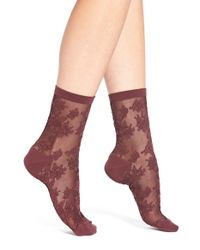 Chelsea28 Nordstrom - Purple Lace Crew Socks - Lyst