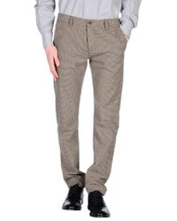 Officina 36 - Natural Casual Trouser for Men - Lyst