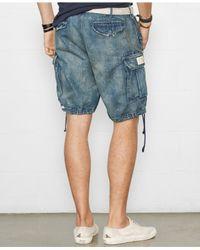 Denim & Supply Ralph Lauren - Blue Denim Cargo Shorts for Men - Lyst